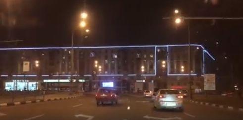 На доме в центре Харькова появилась подсветка
