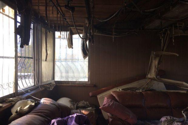 На Салтовке в десятиэтажке сгорела квартираНа Салтовке в десятиэтажке сгорела квартира