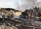 Крупный пожар в Харькове: горела лесопилка