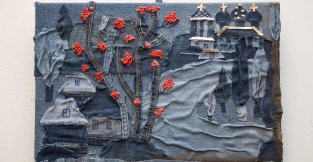 Харьковские мастера создали картины и одежду из старых вещей