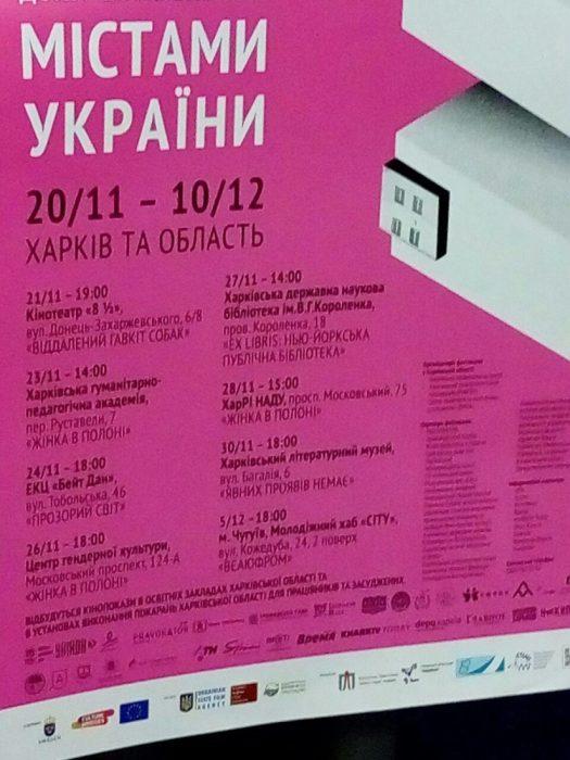 У День Гідності та Свободи на Харківщині відкривається 15 Мандрівний фестиваль документального кіно про права людини