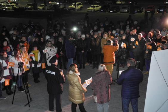 Харьковчане приняли участие во всеукраинском флешмобе против насилия над женщинами