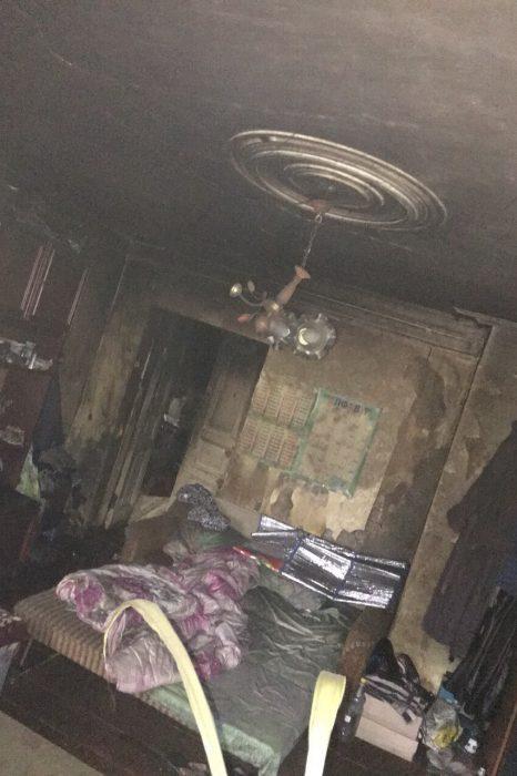 В Харькове горел трехэтажный дом