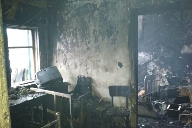 На пожаре под Харьковом погибла пожилая женщина