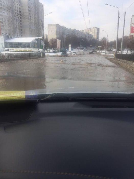 Прорыва водопровода на Алексеевке не было