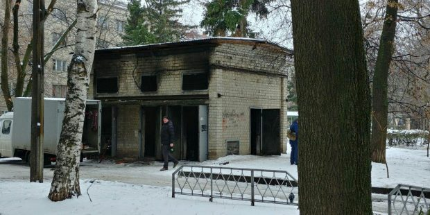 В центре Харькова взорвался и сгорел трансформатор