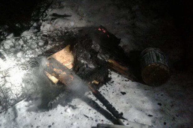 Под Харьковом во время пожара пострадала пожилая женщина