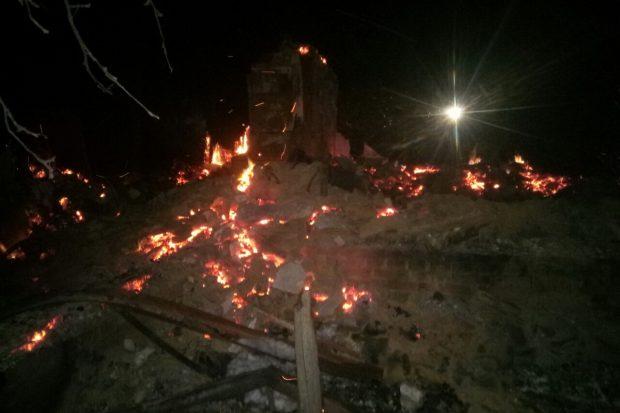 Под Харьковом из-за неисправного печного отопления сгорел дом вместе с хозяйкой