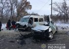 Под Харьковом столкнулись микроавтобус и легковушка: погибло четыре человека