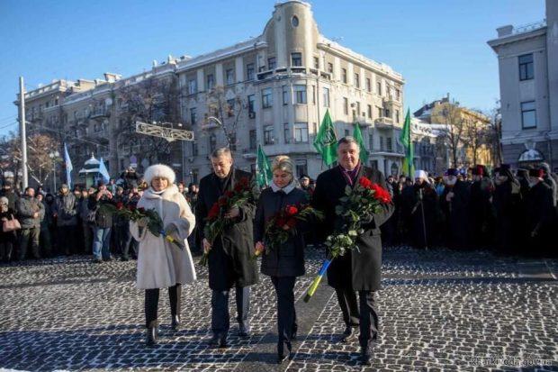 Аваков празднует День Соборности Украины в Харькове