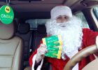 В Харькове Дед Мороз подрабатывает в такси