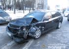 В Харькове воры убегая с места преступления попали в аварию