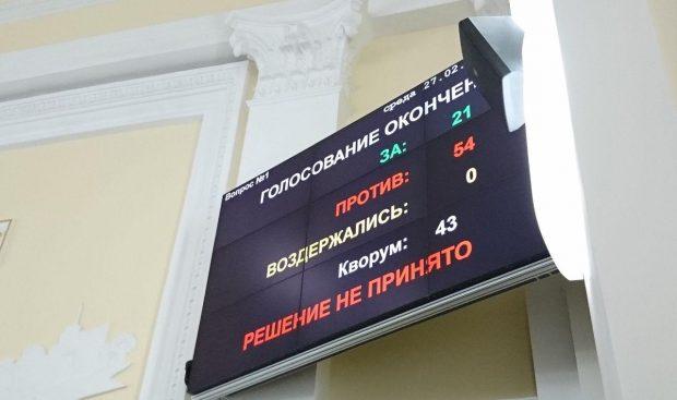 Харьковский городской совет не отменил решения исполкома о повышении тарифов на проезд