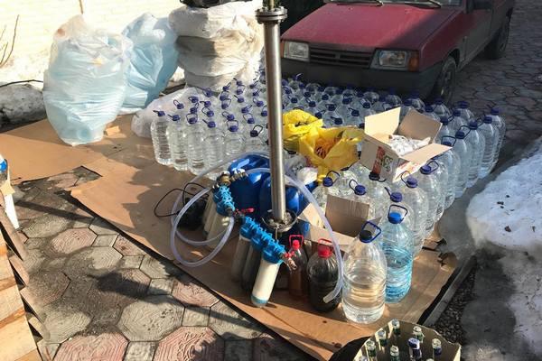 Под Харьковом в подпольных цехах разливали суррогатный алкоголь