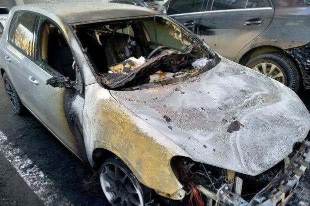 В Харькове за ночь сгорело семь автомобилей
