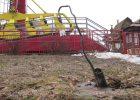 Вандалы разгромили аттракцион в парке Горького