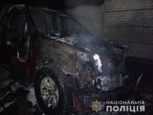 На Харьковщине неизвестные сожгли Ford во дворе хозяина авто