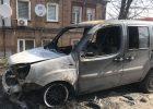 В Харькове возле частного дома сожгли автомобиль