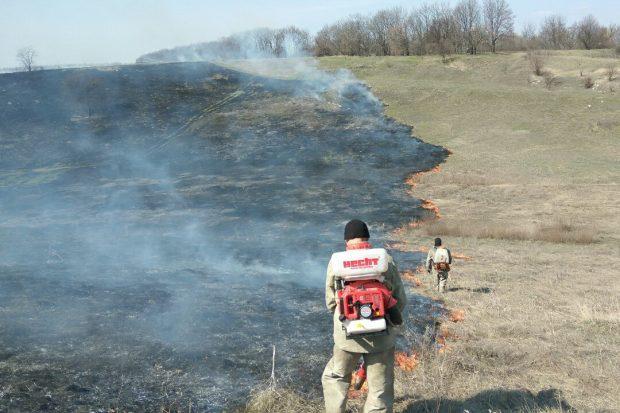 Под Харьковом сжигая мусор едва не погибла пенсионерка