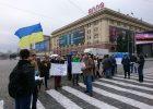 На центральной площади Харькова митинговали против кандидата Зеленского