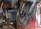 На проспекте Науки в гараже сгорела машина