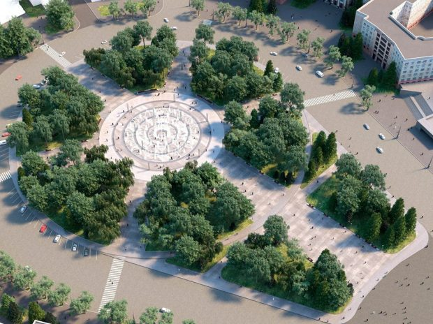 """Кернес показал как будет выглядеть """"сухой"""" фонтан в сквере на площади Свободы"""