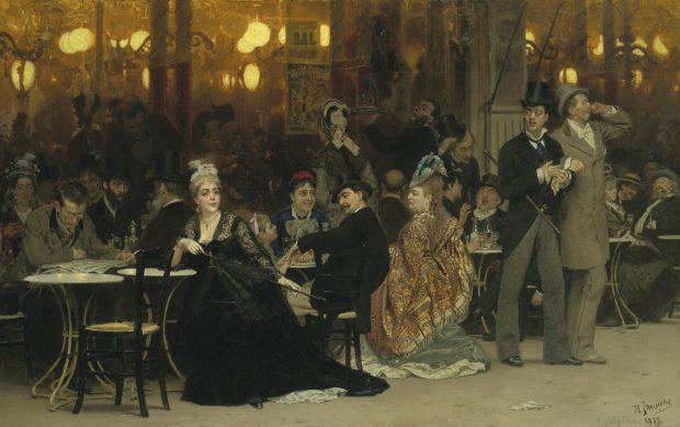 Парижское кафе. 1875