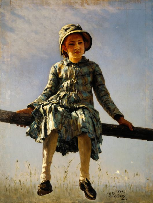 Стрекоза. Портрет В.И.Репиной, дочери художника. 1884 год.