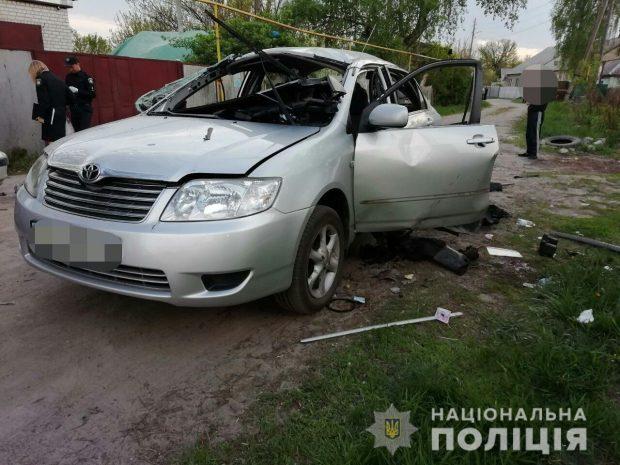 В Харькове мужчина бросил гранату в автомобиль