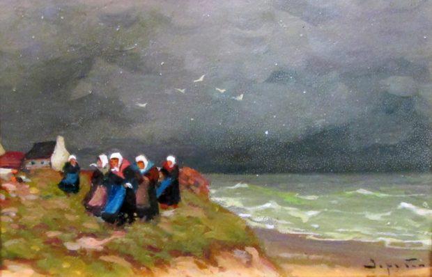 """Виктор Зарубин, картина """"Жены моряков"""""""