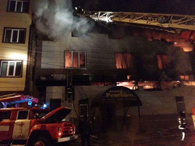 В Харькове сгорел банный комплекс