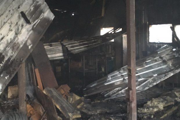 В Харьковской области горел склад агропромышленной фирмы