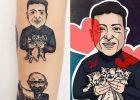 Харьковчанка, сделавшая тату с изображением Кернеса, похвасталась новым тату с Зеленским