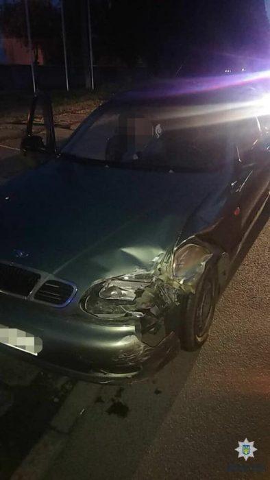 В Харькове задержали пьяного водителя, который убегал с места аварии