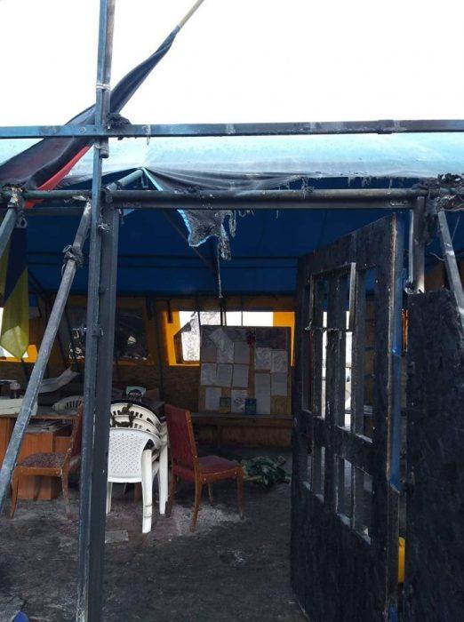 Светличная поручила правоохранителям и ГСЧС выяснить все обстоятельства пожара в волонтерской палатке на площади Свободы