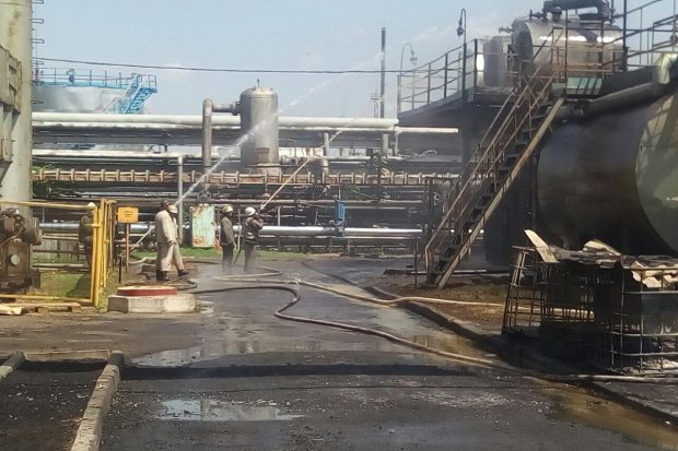 В Харьковской области горело предприятие по переработке газового конденсата и нефти