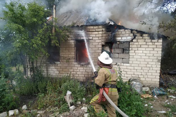 На Харьковщине на пепелище нашли труп