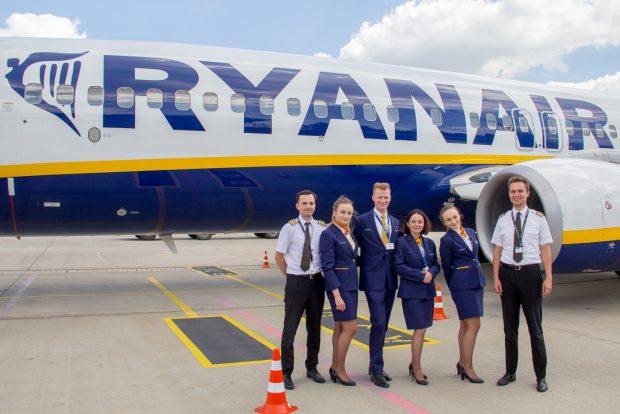 Ryanair выполнил первый рейс Харьков-Краков