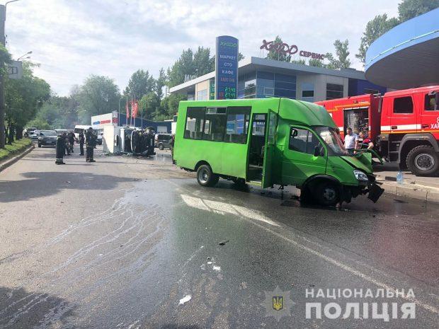 В Харькове в результате ДТП пострадали 15 человек