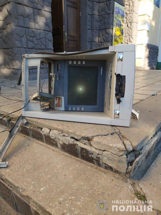 Подрыв банкомата под Харьковом: в полиции рассказали подробности