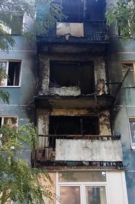 В жилом доме на Салтовке горело три балкона