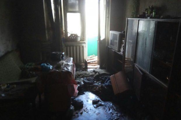 Под Харьковом во время пожара в пятиэтажке погиб мужчина