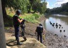 Под мостом в центре Харькова нашли гранату времен Второй мировой войны
