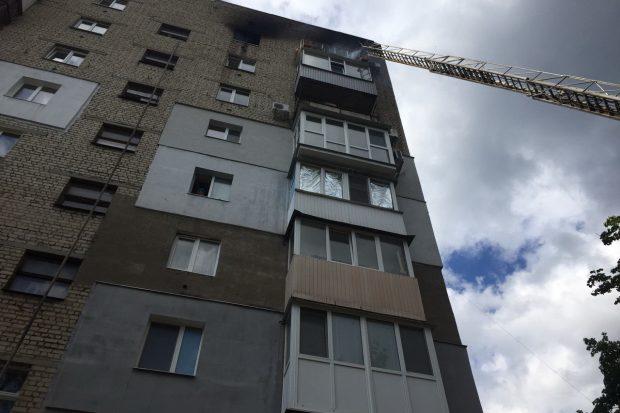 В Харькове во время пожара погиб мужчина