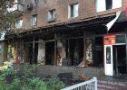 В Харькове сгорел магазин ритуальных услуг