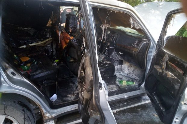 В Харькове на ходу загорелась иномарка