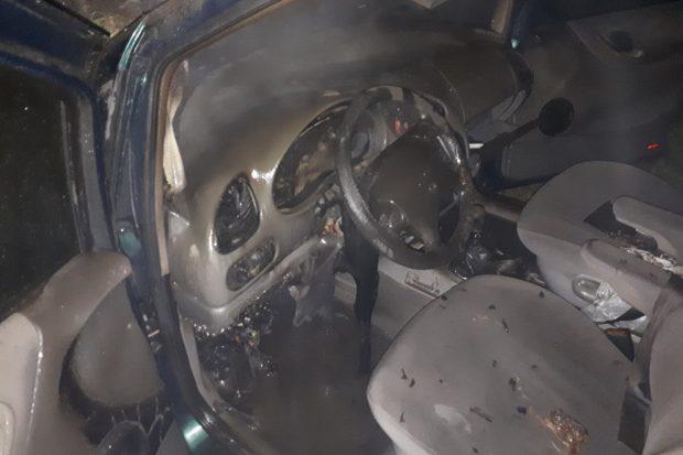 Под Харьковом сгорел Volkswagen Sharan