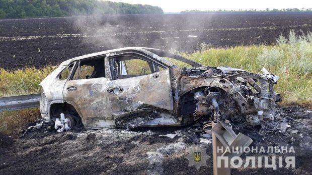 На Харьковщине в результате аварии сгорела Toyota
