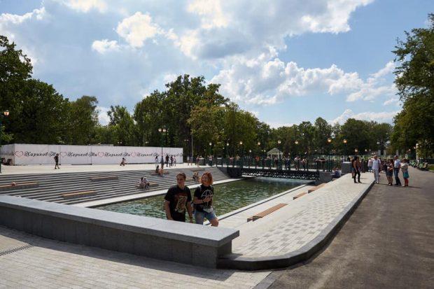 В Харькове открыли озеро в саду Шевченко и сквер Стрелка