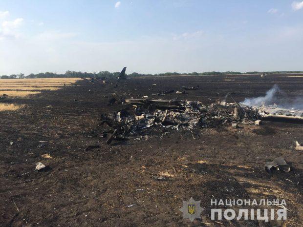 В Харьковской области упал учебный самолет
